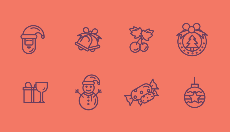 Christmas Line art icon pack by Dalpat Prajapati