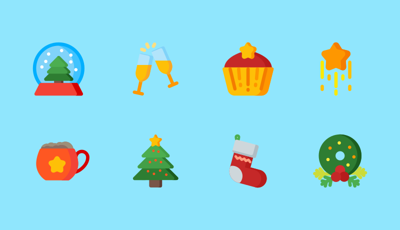 Cute Christmas icon pack by Sooodesign
