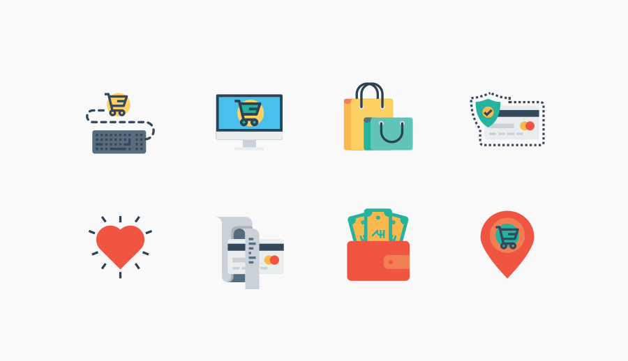 Free E-Commerce Iconset by Mohit Gandhi