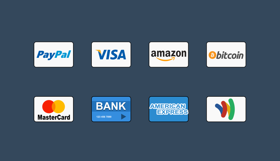 Free Payment Methods Icons by Dalpat Prajapati