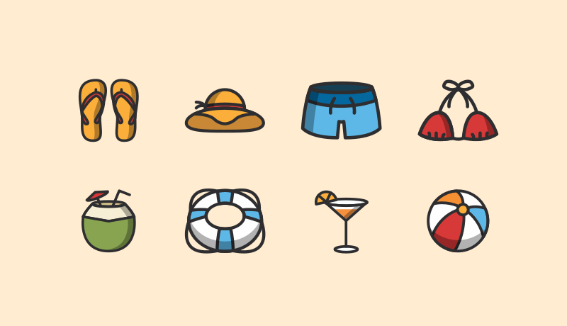 Summer Icon Pack Free by Aomam