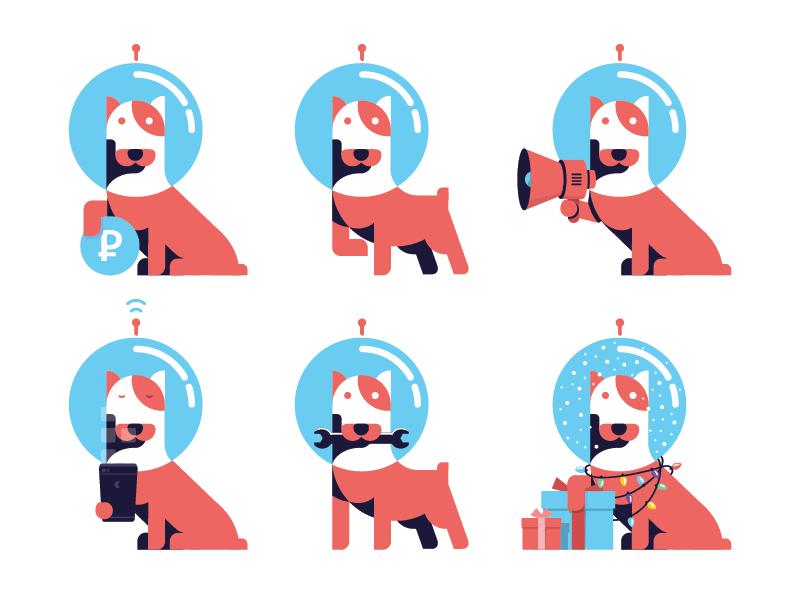 Astronaut Dog avatar by Evgeny Shishkarev for Kaskonomika