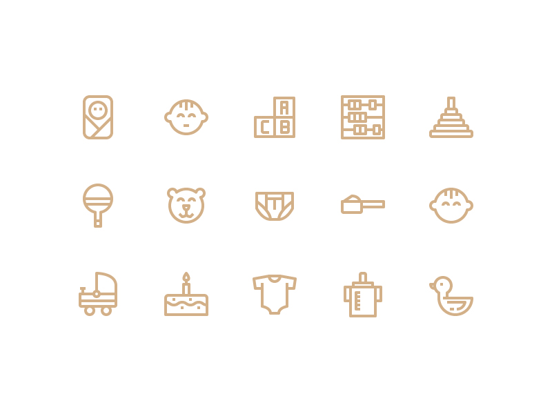 Baby Care icon collection by Unlimiticon