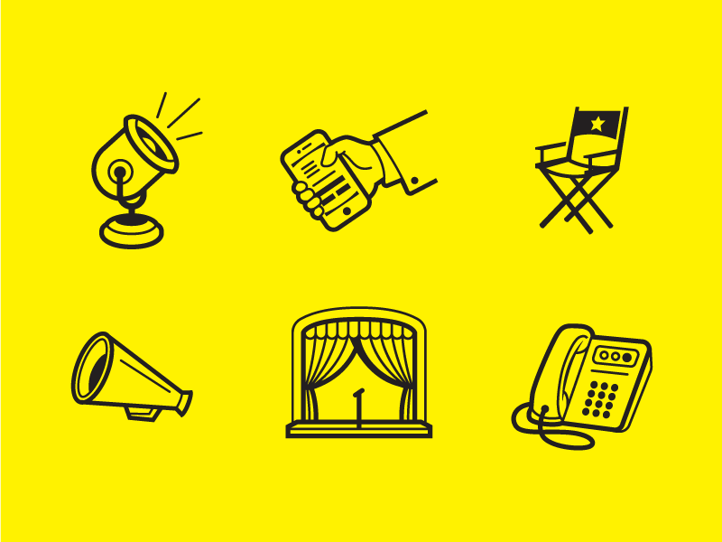 Bank icon collection by Shawn Bueche
