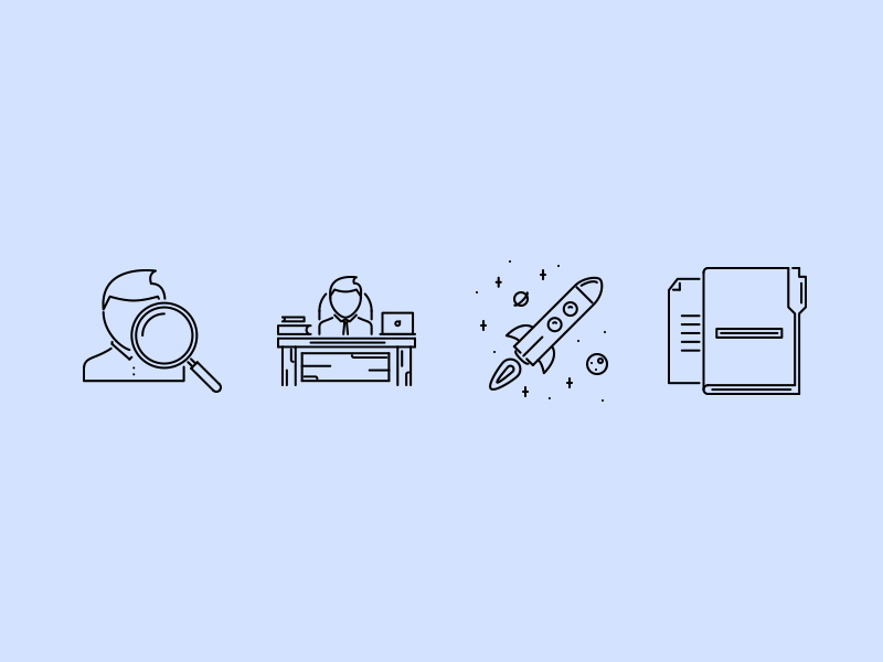 Business outline icons by Last Spark