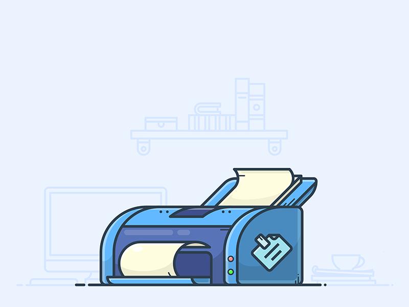 Desk Printer icon by Alexander Kunchevsky