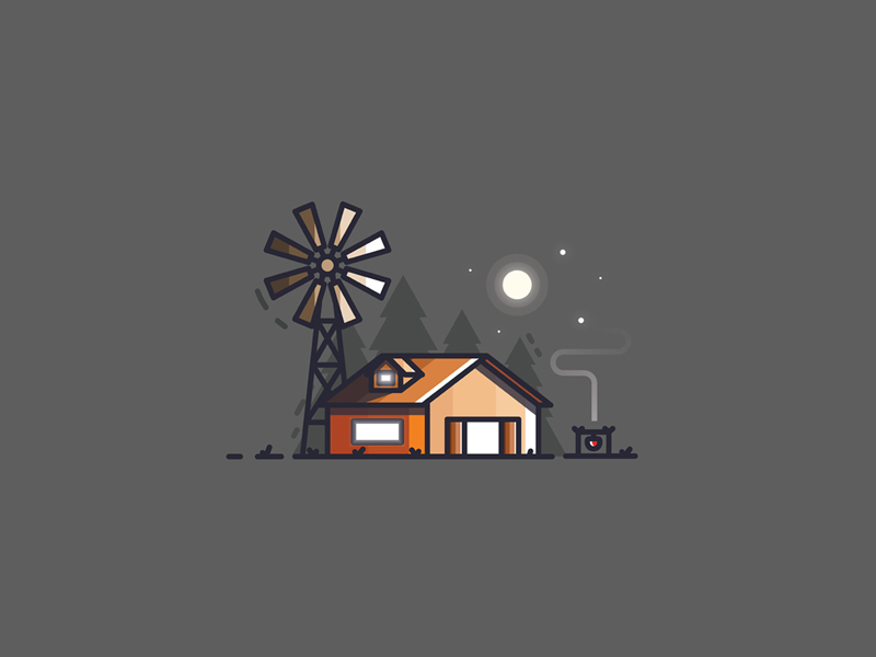 Farm House illustration icon by Sahil Sadigov