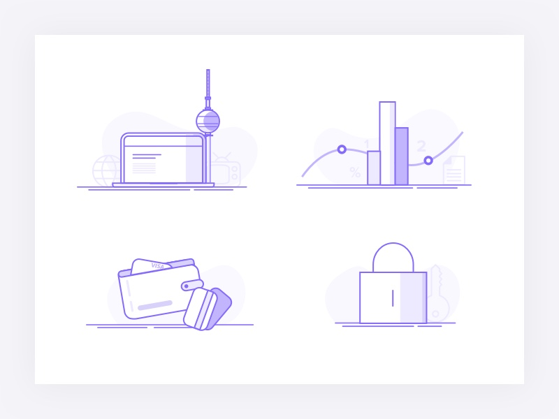 Finance Illustration collection by Kreativgebiet