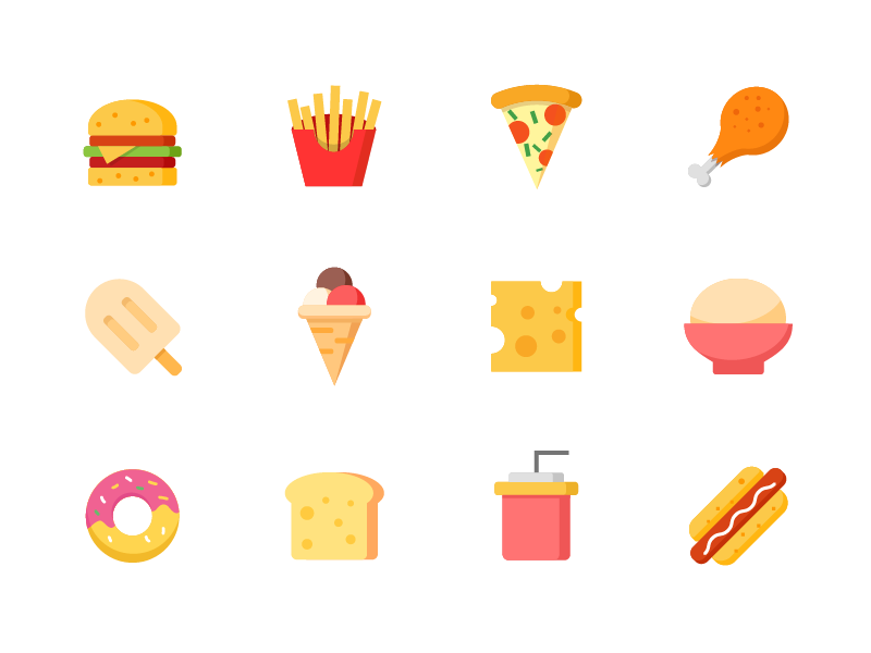 Food icon pack by Ken Chao