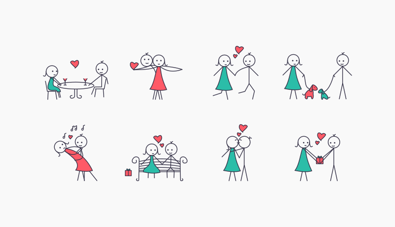 Love Cartoon Icon Pack by Chamestudio