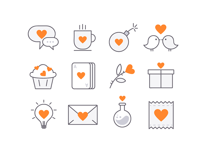 Love Icons by Nastia Piven