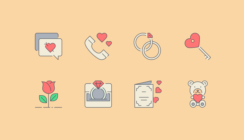 Love Is In the Air Icons by Pixel Bazaar