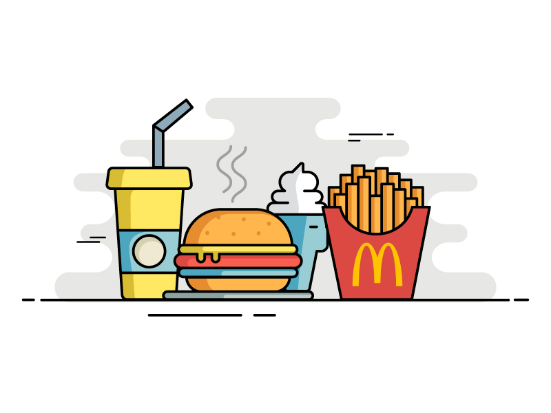 Mcdonald's meal by Bonie Varghese