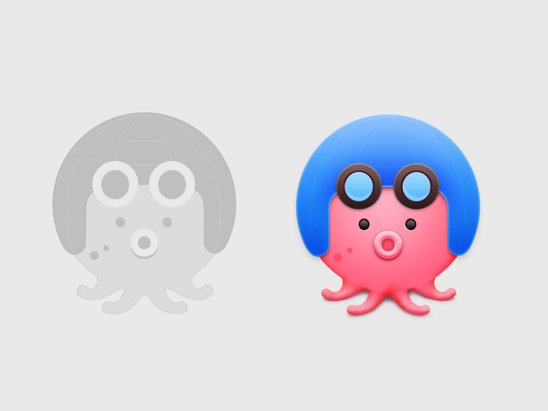 Octopus icon by Yowen Chan