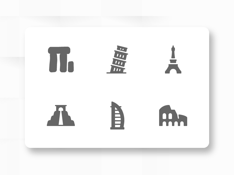 Places icons by Pocike
