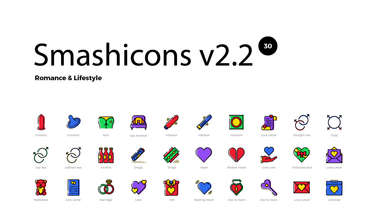 Romance Lifestyle icons by Smashicons