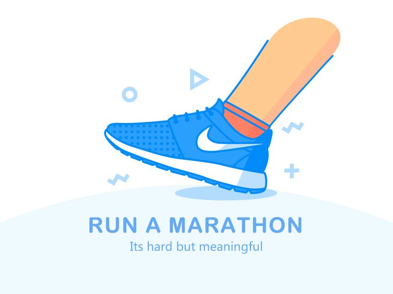 Run a Marathon icon by Haji Su