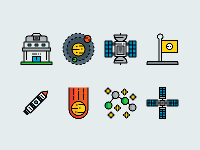 Space and Astronomy icons by unlimiticon