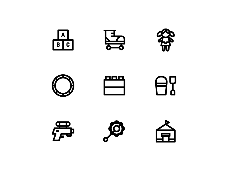 Toys icon collection by Inipagi Studio