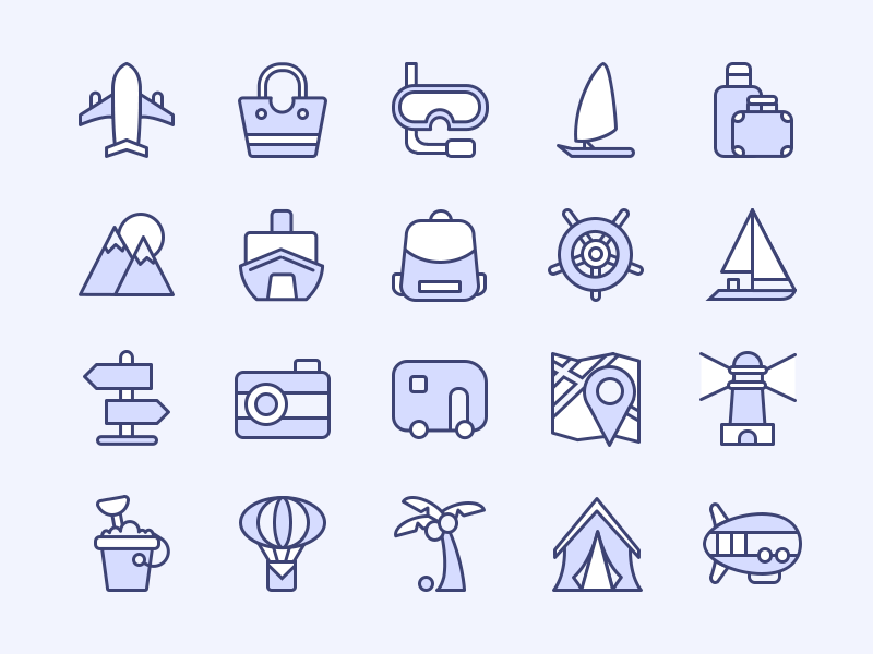Travel and Adventure icon pack by kihoo