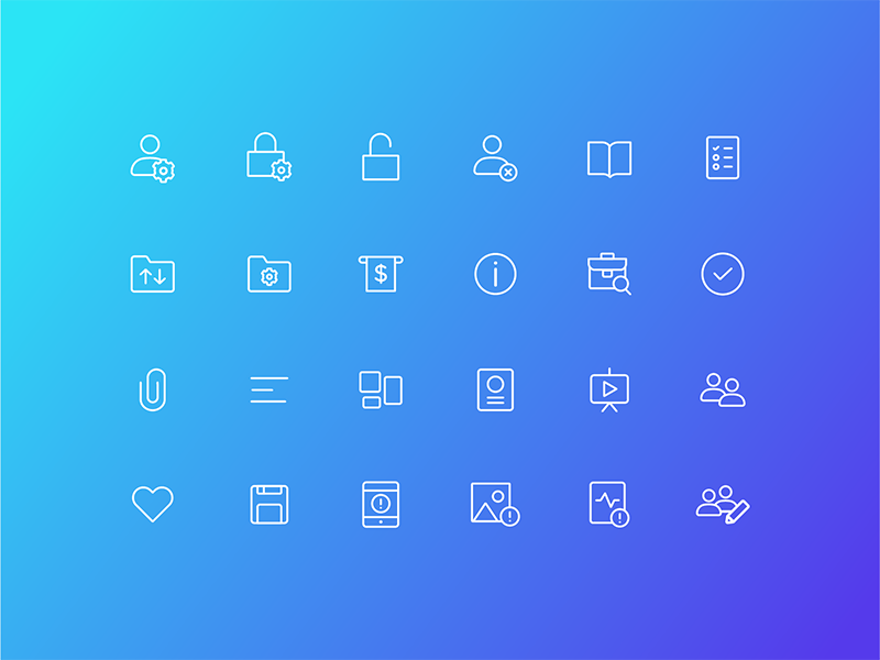 User Interface icon and help center by Paul Gernale for Canva