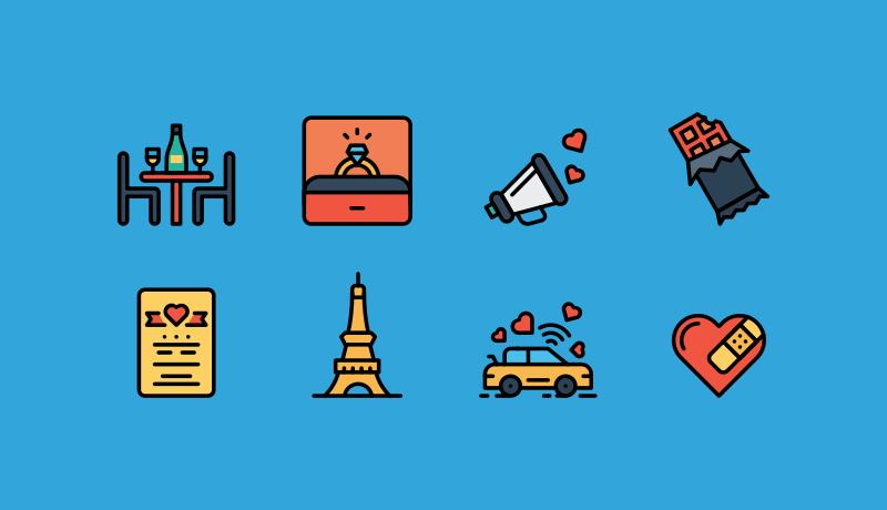 Valentine Love Icons by Jemis Mali