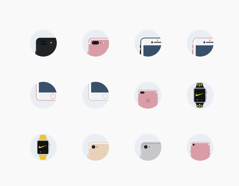 Apple Iphone7 watch icons by Chamestudio
