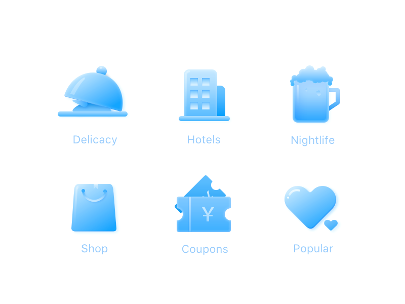 Application icon collection by Victor Hong