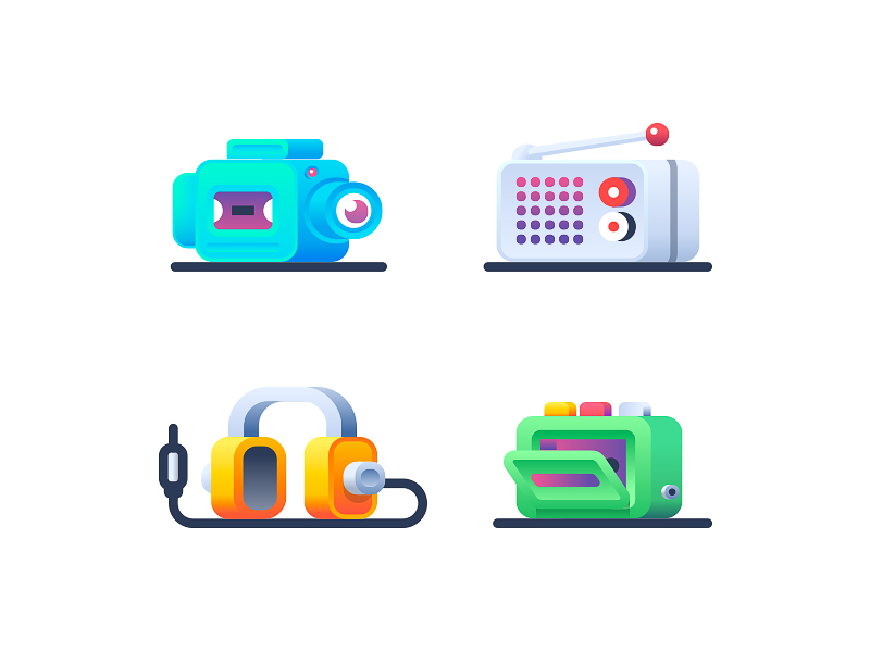 Audio Video icon collection by Nick Kumbari