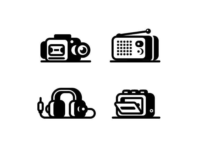 Audio Video icons by Nick Kumbari