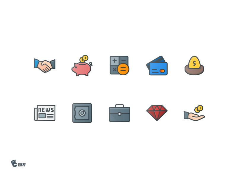 Business icons by Pocike