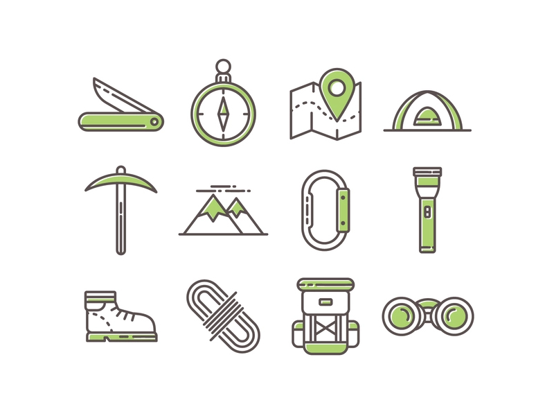 Camping Icon pack by Vecteezy