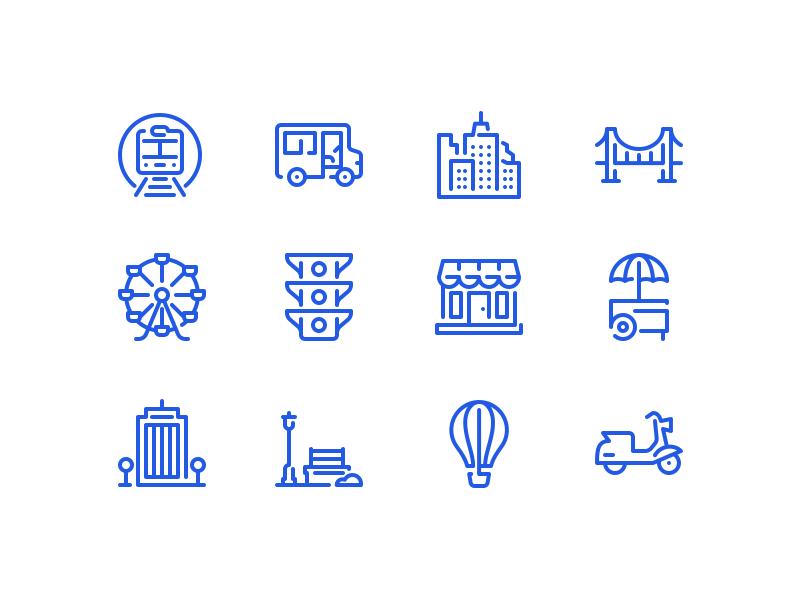 City icons by Dmitriy Mir