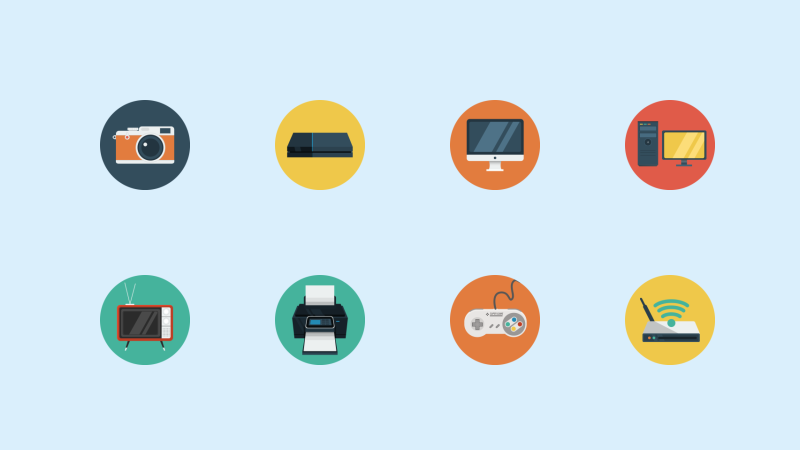 Devices icon collection by Flat-icons