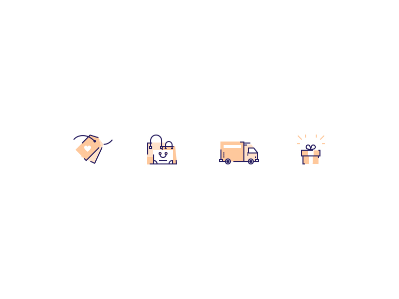 E-commerce icon pack by Cynthia Mergel