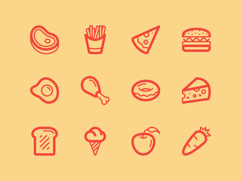 Food icon pack by Vect