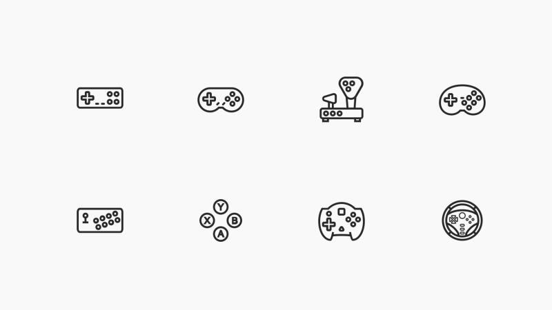 Gamepads icon collection by Sergey Tikhonov