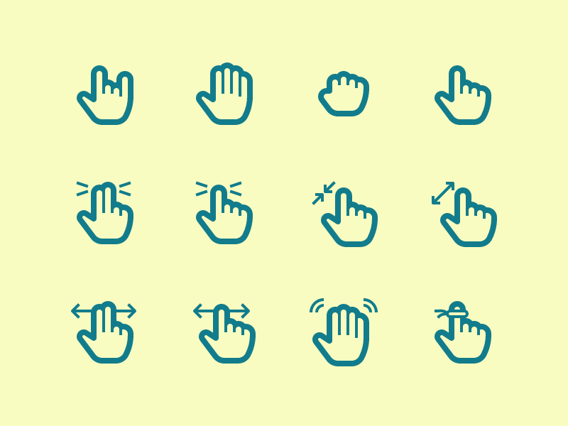 Hand Gesture icon collection by Vect