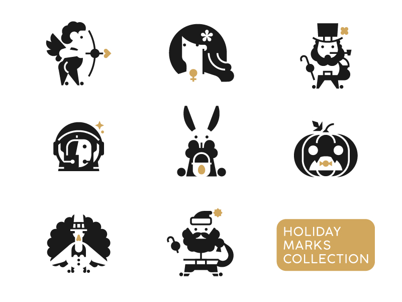 Holiday Marks icon Collection by Dmitry Stolz
