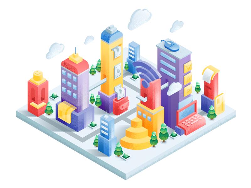 IT city by Izyum Creative Group