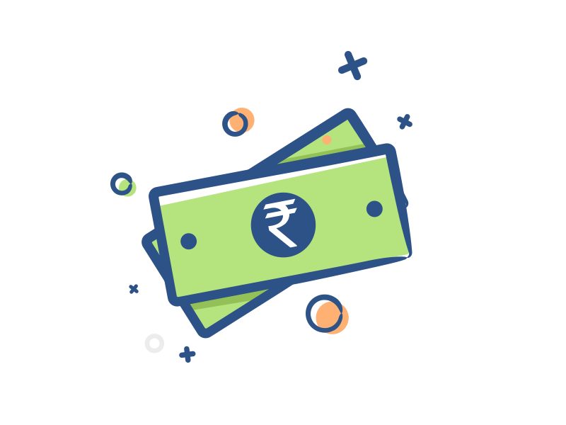 Indian currency icon by Vikas Singh