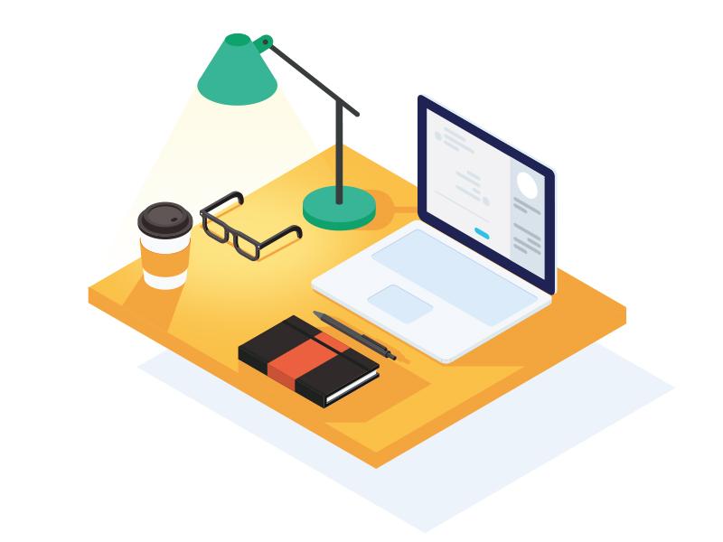 Isometric Desktop by Ricardo Rodriguez
