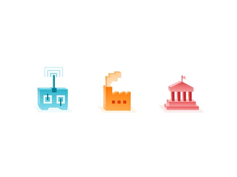 Isometric icons by Leon Ephraim
