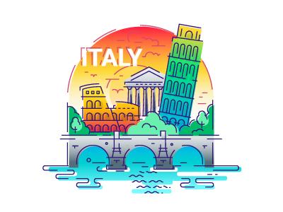 Italy Travel Illustration by Ilya Boyko