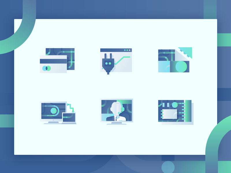 Landing page icons by Jingyii