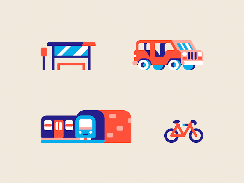 Map Elements icon collection by Chris van Rooyen