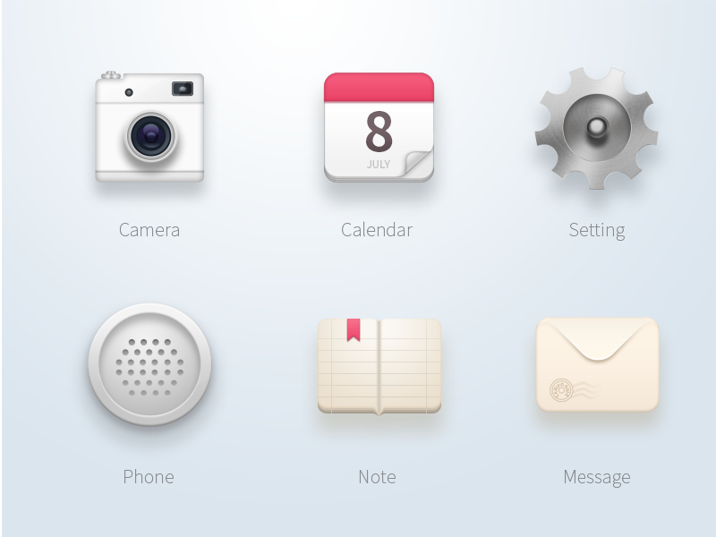 Materialized icon collection by Iysoul