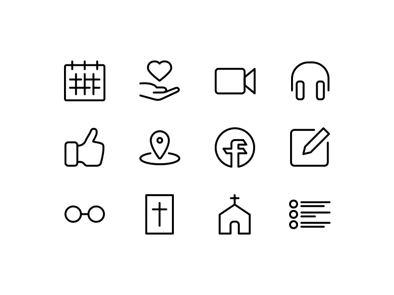 Mobile application icon collection by Big Bold Co.