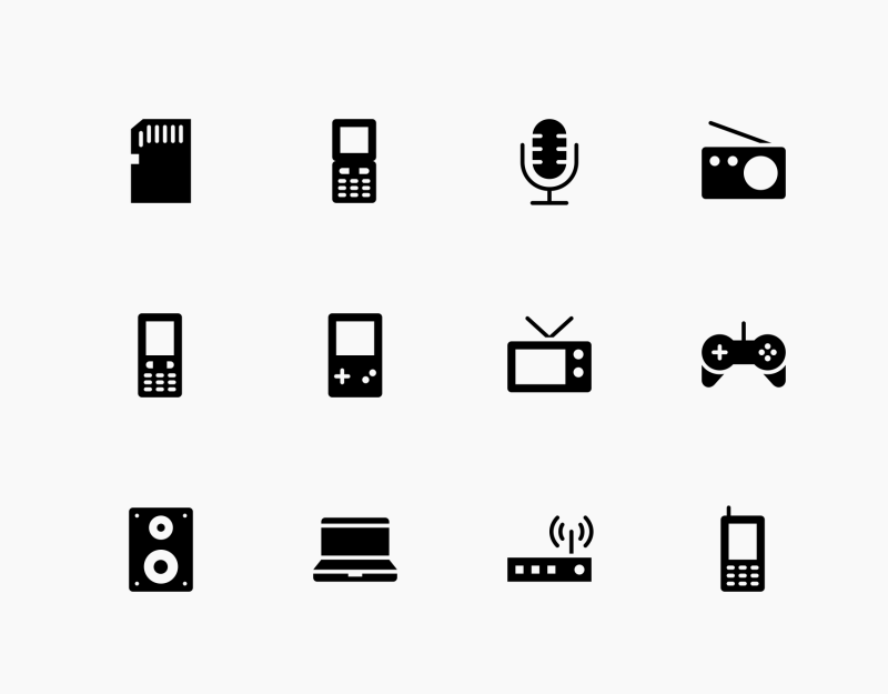 Networking and Gaming devices icons by Baabullah Hasan