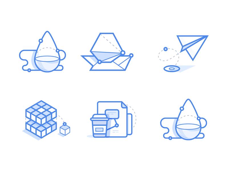 Office stuff icons by Zaib Ali